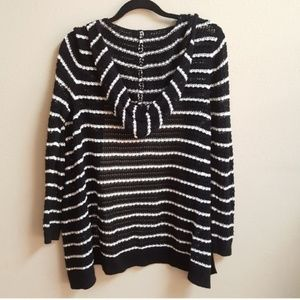 GAP Sweaters - [GAP] Black & White Open Front Hooded Cardigan